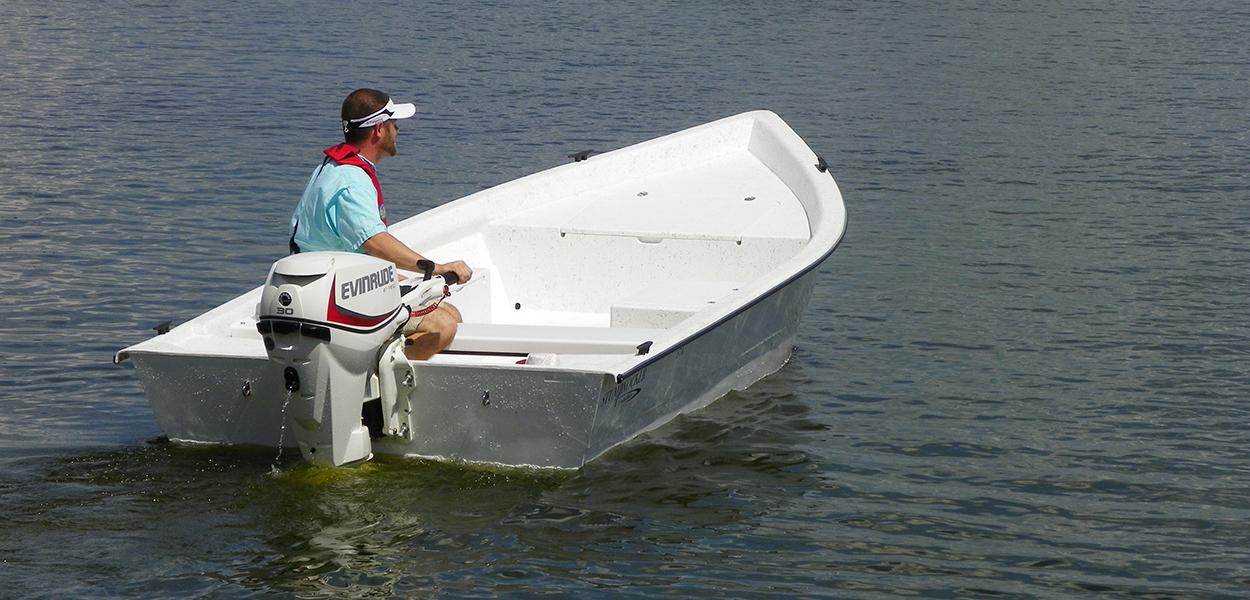 174 Skiff Tiller Stumpnocker By Salty Boats